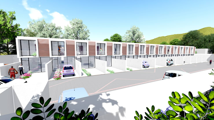 Roux Estate Apartments:  Houses by URBANSOUP