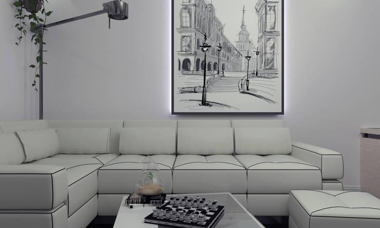 industrial Living room by СИРИУS Архитектурное бюро