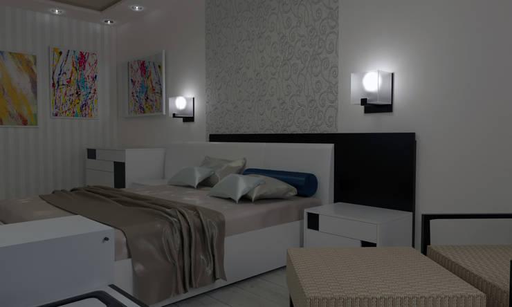 industrial Bedroom by СИРИУS Архитектурное бюро