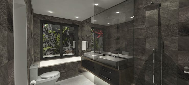 Bathroom design:   by Holloway and Hound architecture and interiors