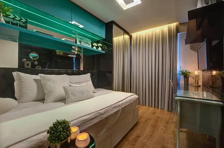 Dormitorios de estilo  por Dome arquitetura