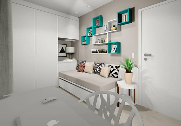 Dormitorios de estilo  por Bloco Z Arquitetura