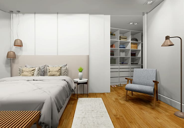 Dressing room by Bloco Z Arquitetura