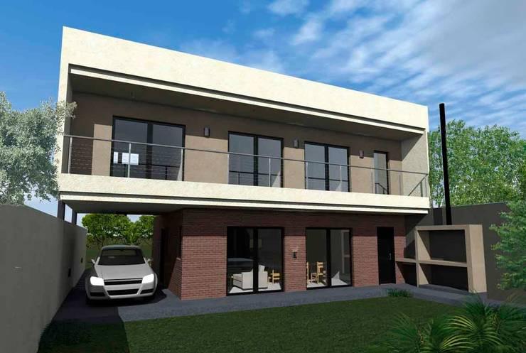 Fachada Norte: Casas de estilo  por ESTUDIO RR,