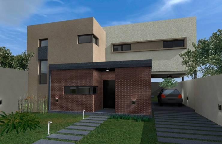 Fachada Sur : Casas de estilo  por ESTUDIO RR,