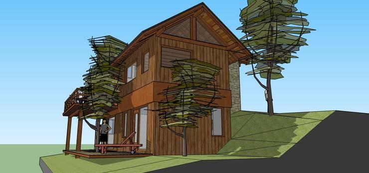 Anteproyecto Casa SZ: Casas de estilo  por Paico