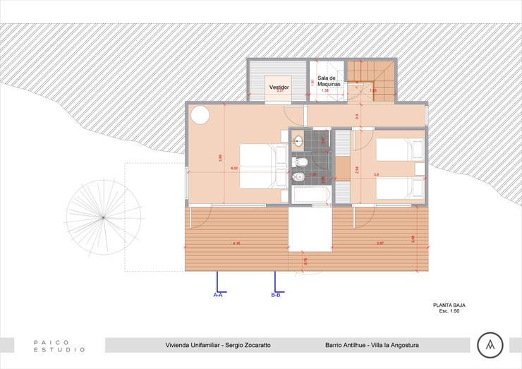 Planta Baja: Dormitorios de estilo  por Paico