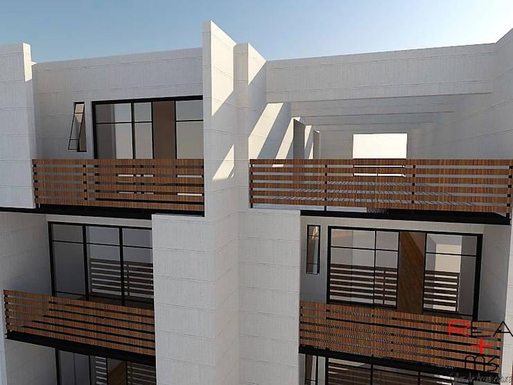 Departamentos CDMX: Casas de estilo  por REA + m3 Taller de Arquitectura