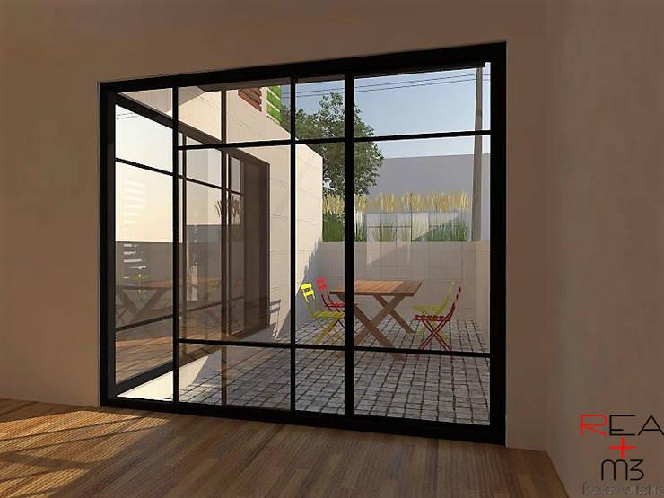Departamentos CDMX: Terrazas de estilo  por REA + m3 Taller de Arquitectura