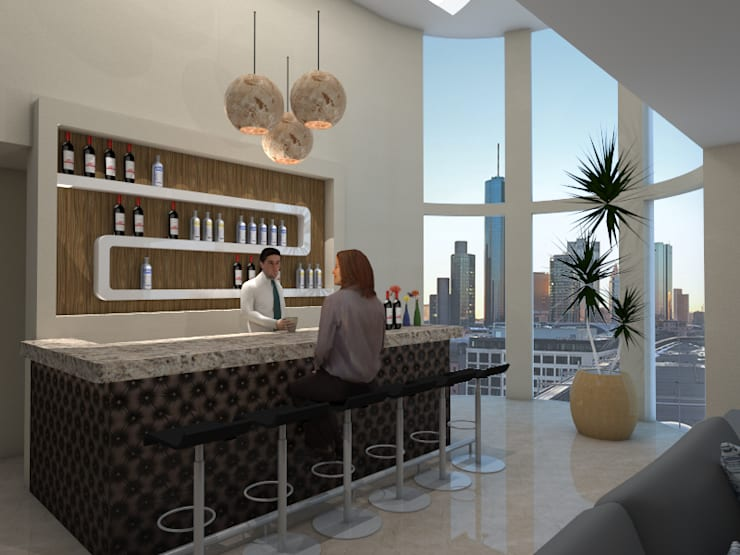 Cantina CDMX: Cavas de estilo  por REA + m3 Taller de Arquitectura