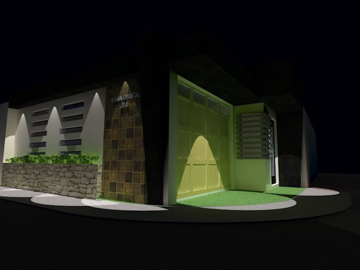 Fachada de Cochera: Garajes de estilo  por Grupo Arquitecura e Identidad