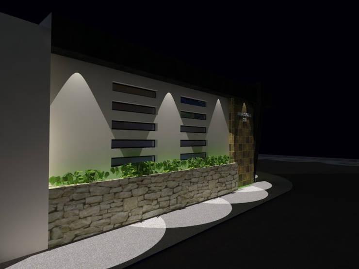 Lateral iluminado: Casas de estilo  por Grupo Arquitecura e Identidad
