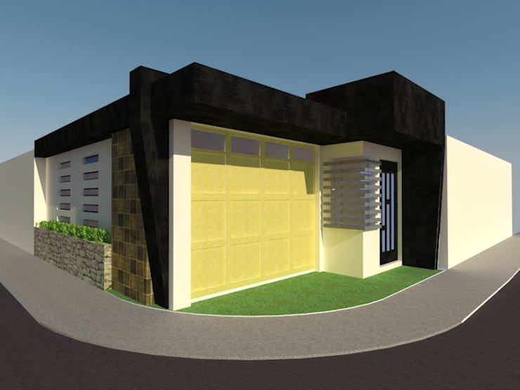 Fachada de Cochera 2: Casas de estilo  por Grupo Arquitecura e Identidad