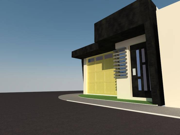 Vista Acceso Peatonal: Casas de estilo  por Grupo Arquitecura e Identidad
