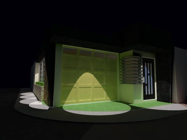Ampliacion: Diseño de cochera y acceso: Casas de estilo  por Grupo Arquitecura e Identidad