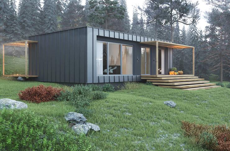 Projekty, minimalistyczne Domy zaprojektowane przez Espace Team