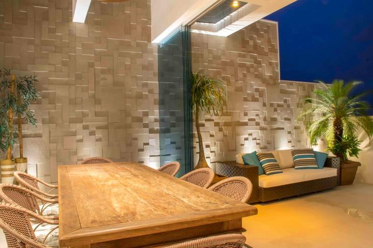 ระเบียง, นอกชาน โดย Rosset Arquitetura, โมเดิร์น