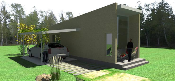 CASA DE HUÉSPEDES : Casas de estilo  por ARQUITECTURA FENG SHUI,