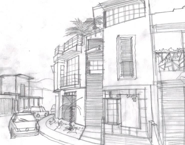 Boceto Inicial :  de estilo  por Lobato Arquitectura