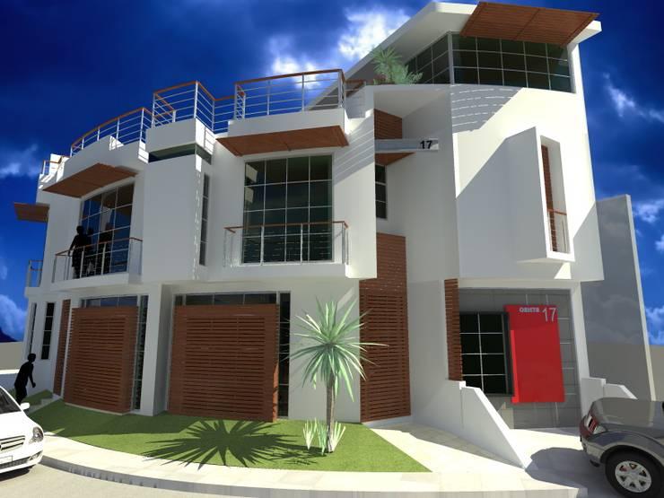 Propuesta de Fachada : Casas de estilo  por Lobato Arquitectura