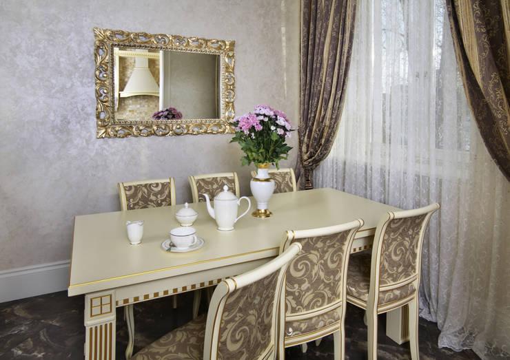 Элегантная классика в сталинке: Столовые комнаты в . Автор – Дизайн бюро Оксаны Моссур