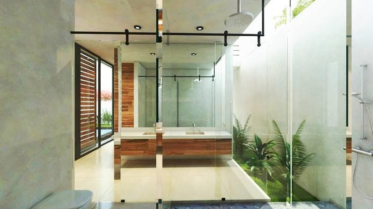SENDEROS MAYAKOBA : Baños de estilo  por Art.chitecture, Taller de Arquitectura e Interiorismo 📍 Cancún, México.