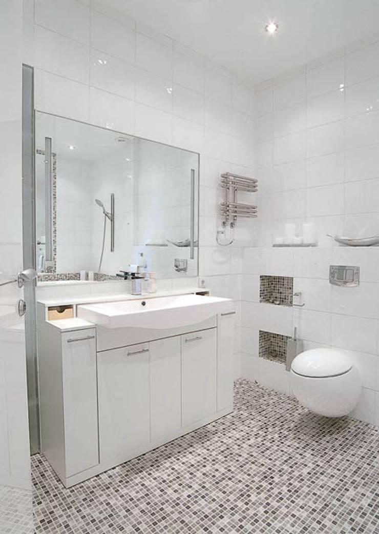 Идеально белый в ЖК Шмитовский: Ванные комнаты в . Автор – Дизайн бюро Оксаны Моссур