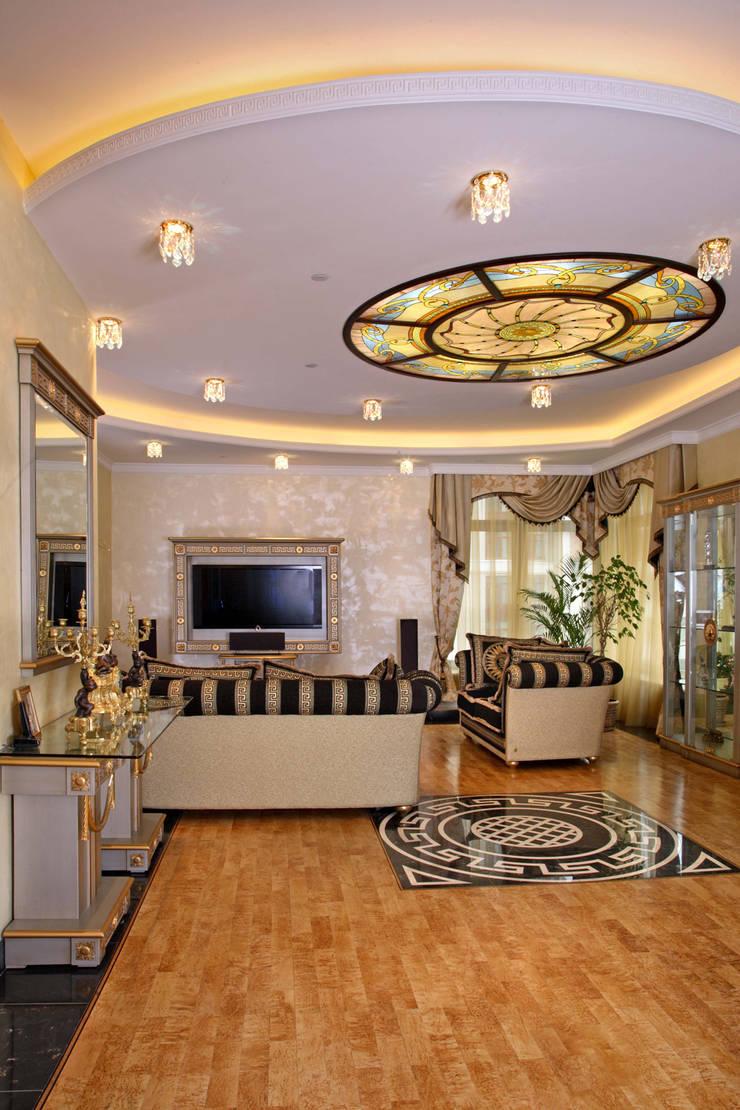 Территория гостеприимства в ЖК Триумф Палас: Гостиная в . Автор – Дизайн бюро Оксаны Моссур