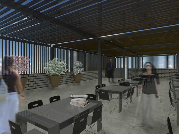 Biblioteca ULSB [León, Gto.]:  de estilo  por 3C Arquitectos S.A. de C.V.