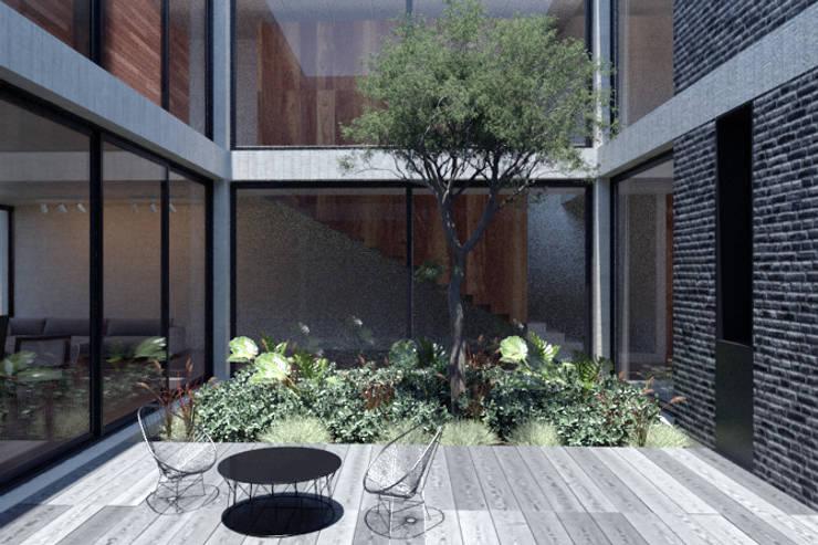 Casa Mariana: Jardines de estilo  por Studio de Arquitectura y Ciudad