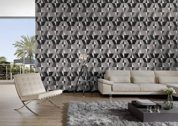 Paredes y suelos de estilo  por Disbar Papeles Pintados