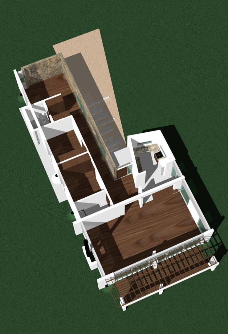 Casa de Campo:  de estilo  por Nucleo Arquitectura,