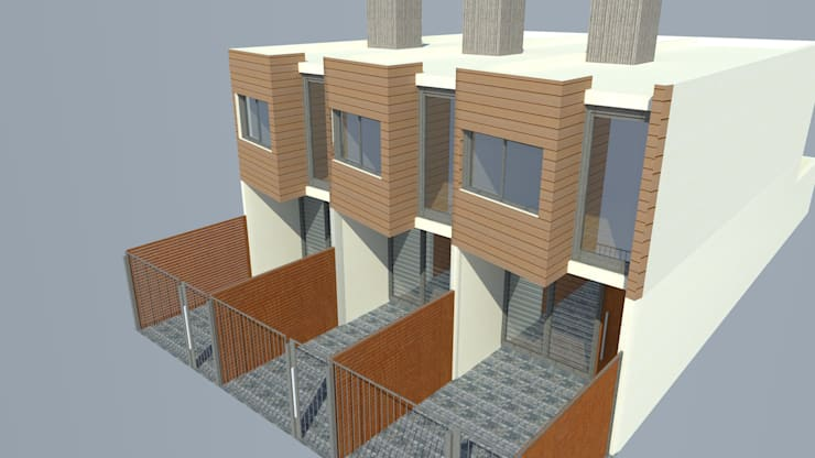 Fachada: Casas de estilo  por Lisandro Fiori ARQUITECTO