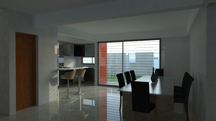 Interiores - 3D: Comedores de estilo  por Lisandro Fiori ARQUITECTO