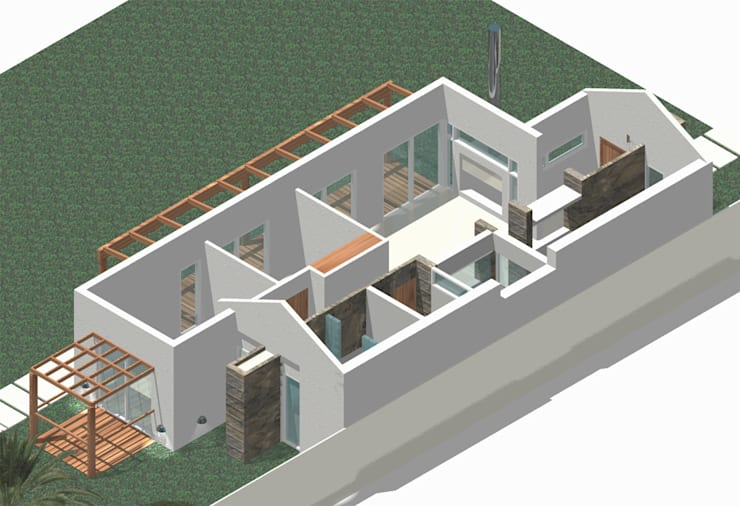 Casa de Campo Atalaya:  de estilo  por Nucleo Arquitectura,
