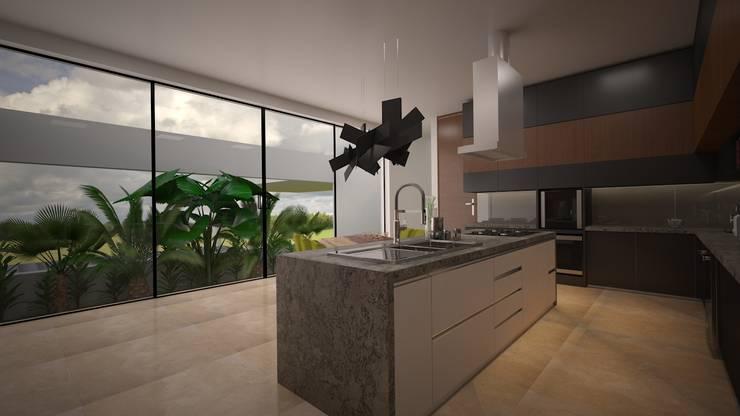 CASA - TEMOZÓN: Cocinas de estilo  por Vau Studio , Moderno