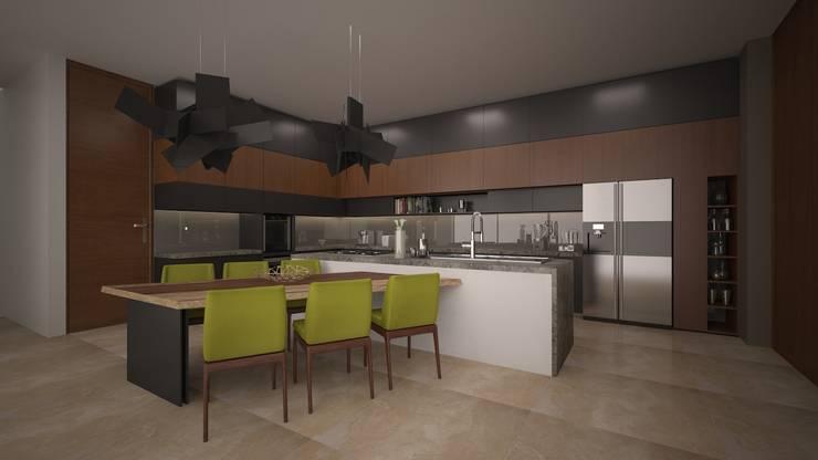 CASA – TEMOZÓN: Cocinas de estilo  por Vau Studio , Moderno