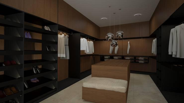 CASA – TEMOZÓN: Vestidores y closets de estilo  por Vau Studio