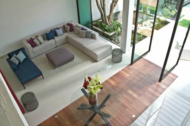 CASA DEL ARBOL: Salas de estilo  por Vau Studio