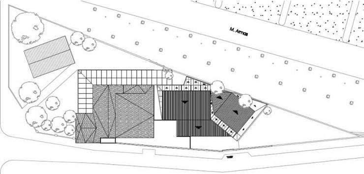 Planta General: Bares y Clubs de estilo  por SSA design studio