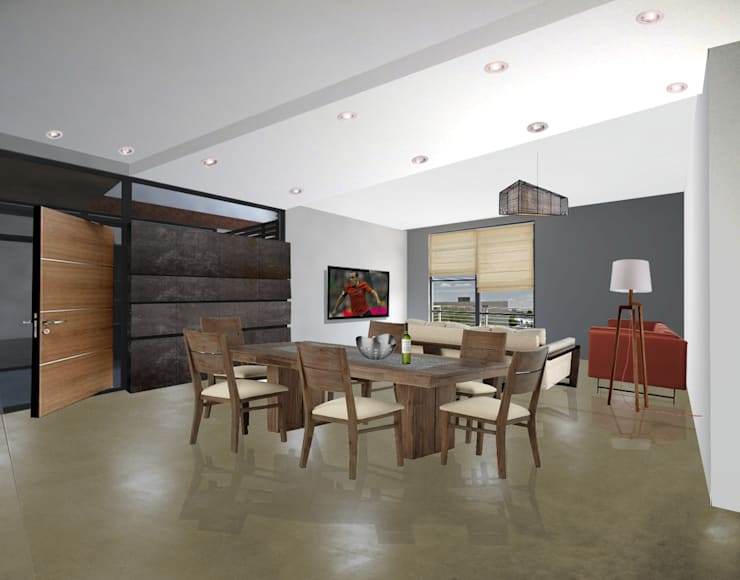 PAPAGOS LUXURY CONDOS: Casas de estilo  por COTA ESTÉVEZ ARQUITECTURA , Moderno Concreto