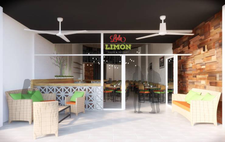 Fachada: Restaurantes de estilo  por Taller Veinte, Industrial