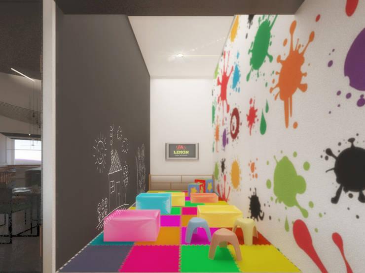 Kids Club: Restaurantes de estilo  por Taller Veinte, Industrial
