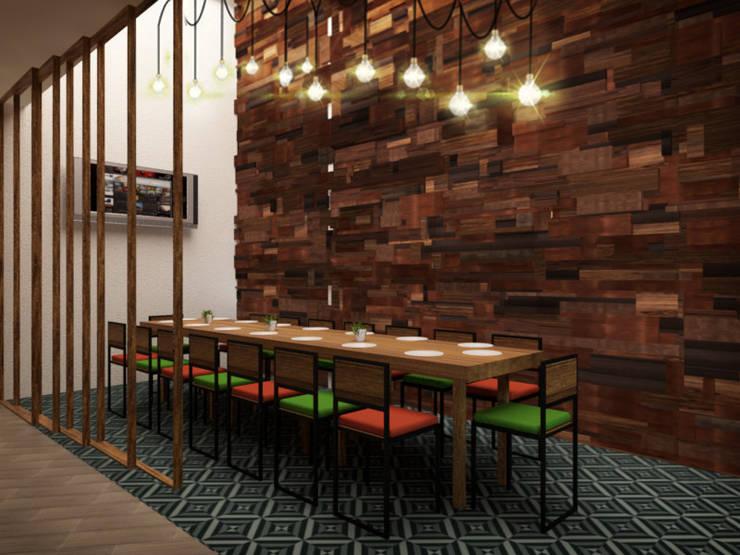 Salón Privado: Restaurantes de estilo  por Taller Veinte, Industrial