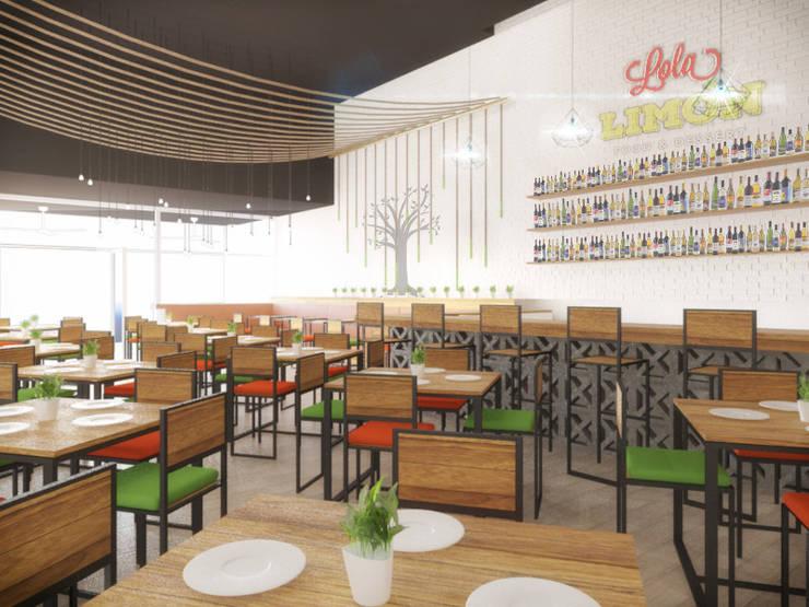 Área comensales: Restaurantes de estilo  por Taller Veinte, Industrial