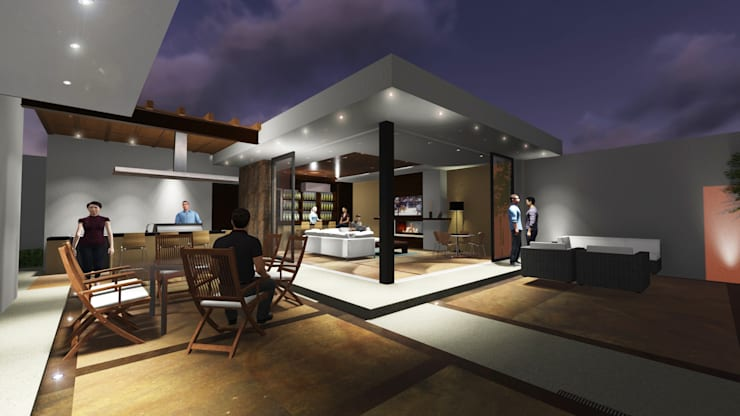 AMPLIACIÓN RESIDENCIAL LA RIOJA: Casas de estilo  por COTA ESTÉVEZ ARQUITECTURA