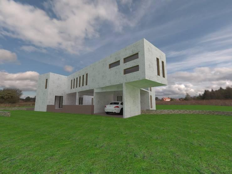CASA FUNDO EL PERAL: Casas de estilo  por Arquiconst Arquitectos