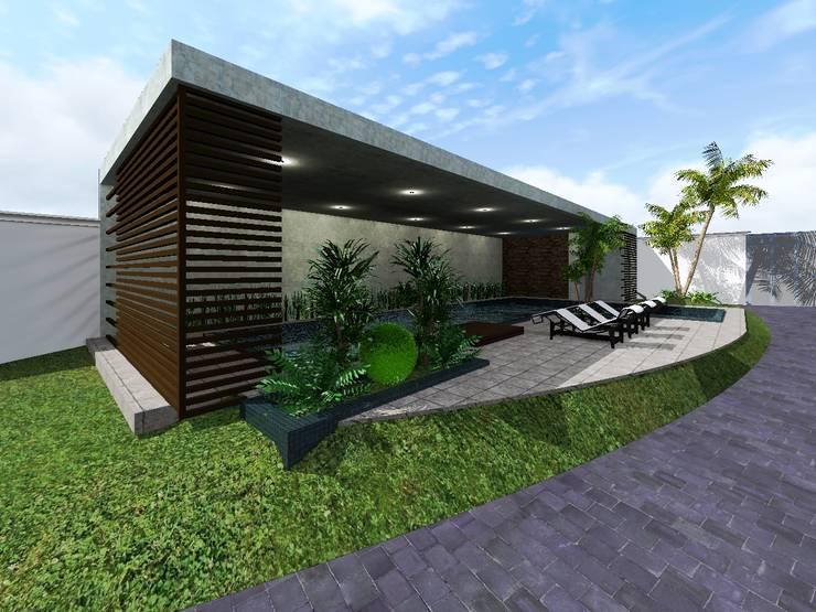 Proyecto Cristo : Albercas de estilo  por HC Arquitecto