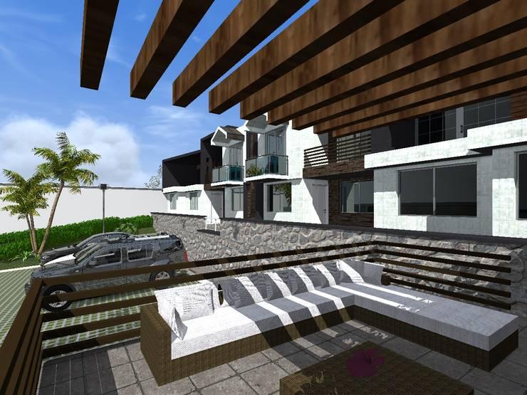 Proyecto Cristo : Terrazas de estilo  por HC Arquitecto
