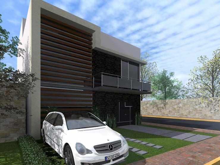 Casa FM: Casas de estilo  por HC Arquitecto, Minimalista